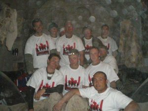 A mother sent over 45 of our t-shirts and song to her son and unit in Afghanistan in 2010.